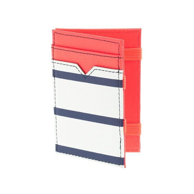 Stripe leather magic wallet