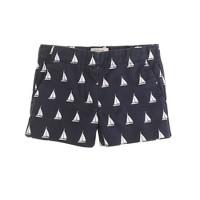Girls' Frankie short in sailboat print