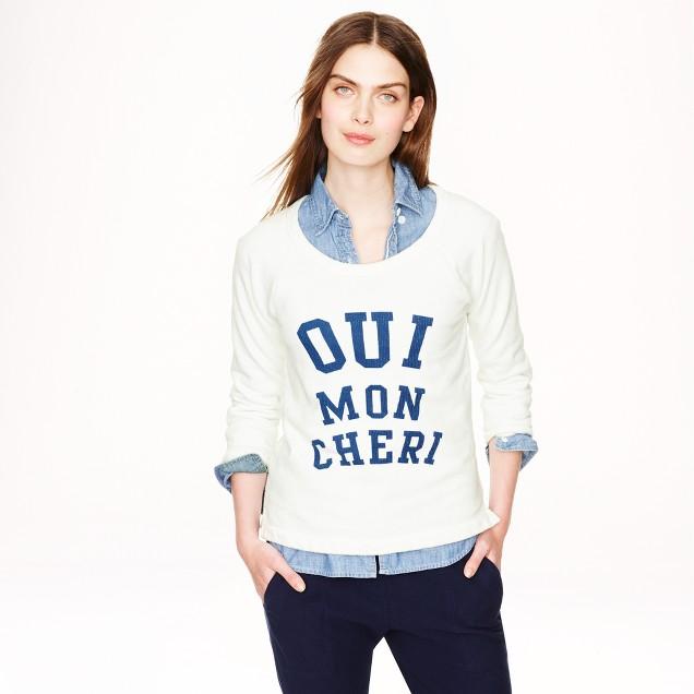 Oui mon cheri sweatshirt