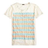 Drapey T-shirt in surf stripe