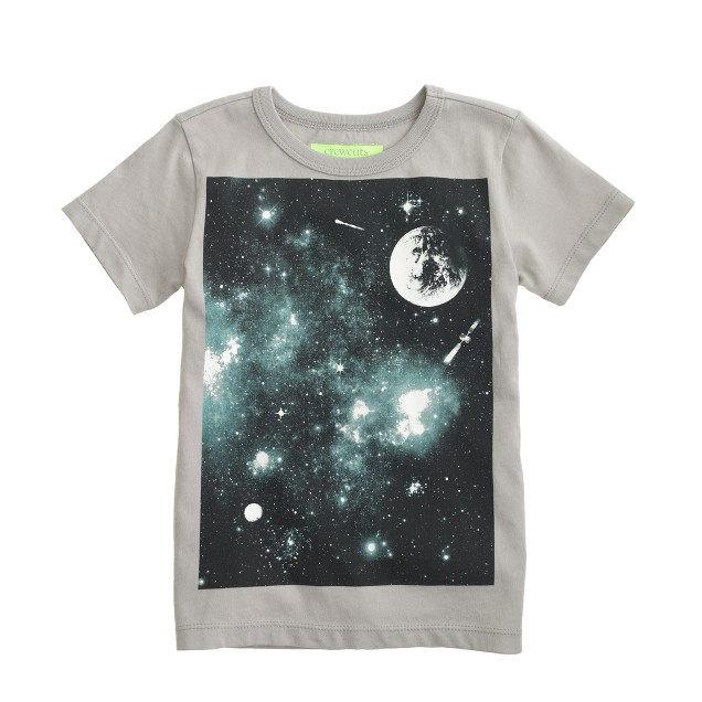Boys' glow-in-the-dark space tee