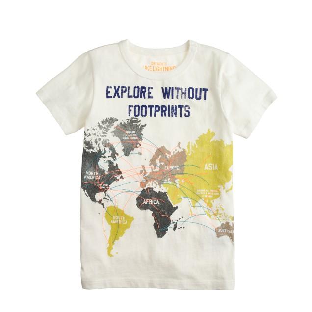 Boys' world map tee