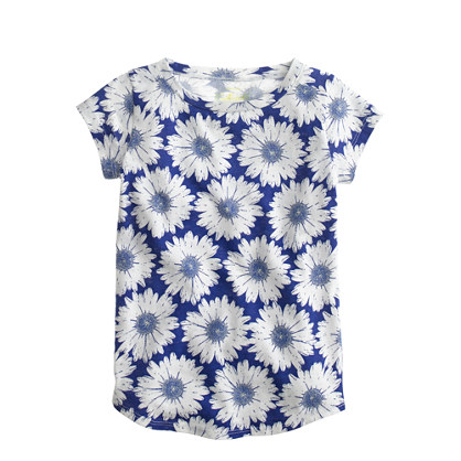 Girls' daisy print T-shirt