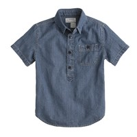 Kids' short-sleeve chambray popover