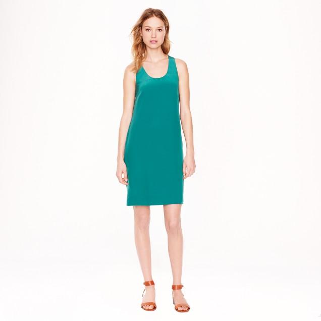 Twist-back silk dress