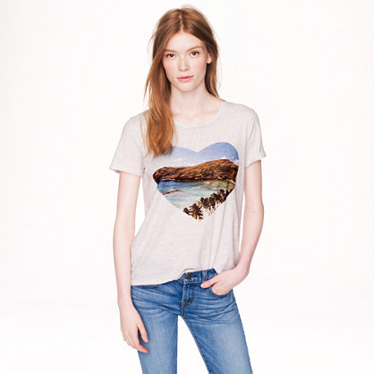 Drapey T-shirt in beach heart