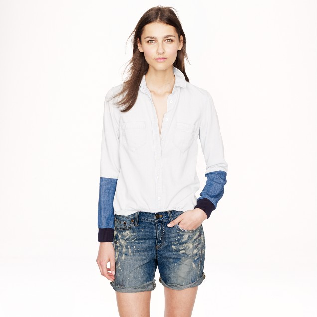 Collection painted jean short
