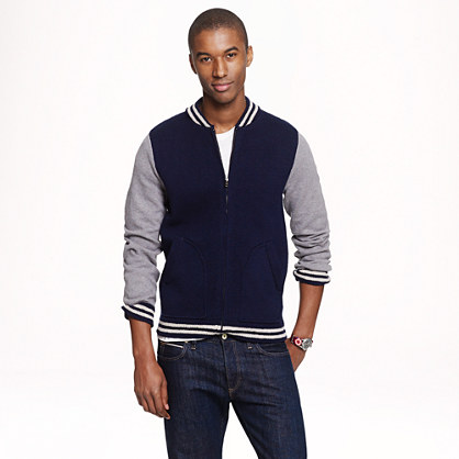 Wallace & Barnes baseball sweater-jacket