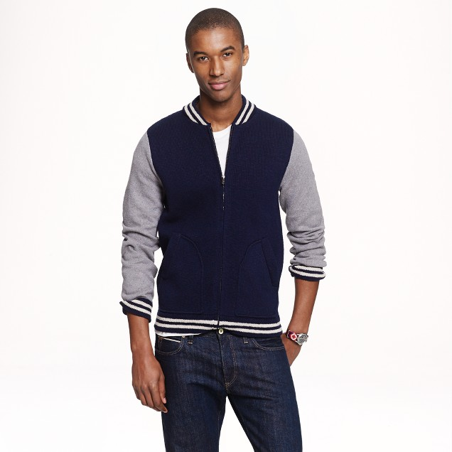 Wallace & Barnes baseball sweater-jacket