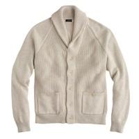 Cotton shawl-collar cardigan