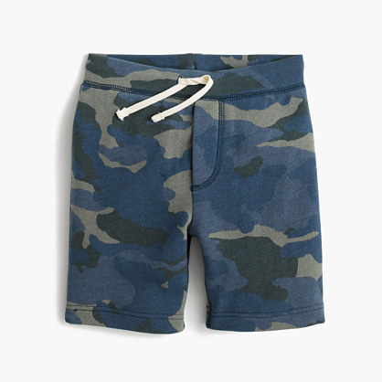 Boys' Cooper pull-on sweatshort in camo
