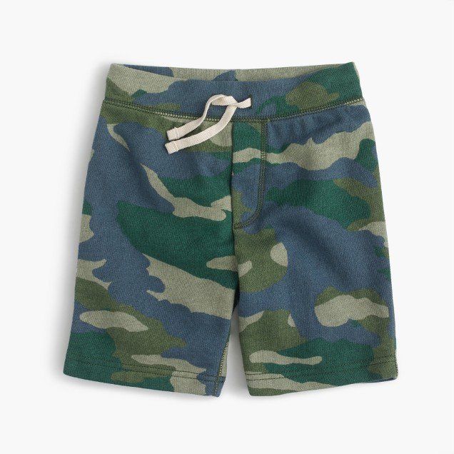 Boys' sweatshort in camo