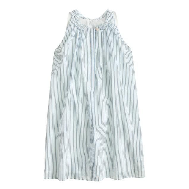 Girls' stripe a-line dress