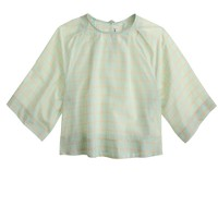 Apiece Apart™ Roberta crop top in mint grid