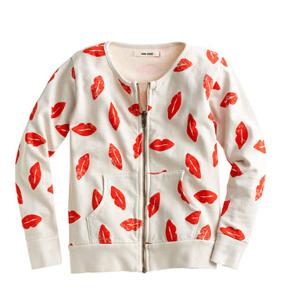 Girls' Bobo Choses® lips zip sweatshirt