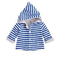 Baby Petit Bateau® reversible hoodie in stripe