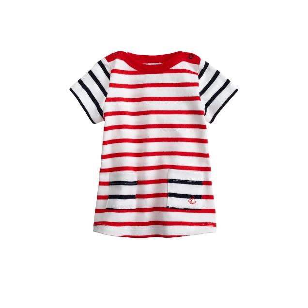 Baby Petit Bateau® Marinère dress with contrast stripes