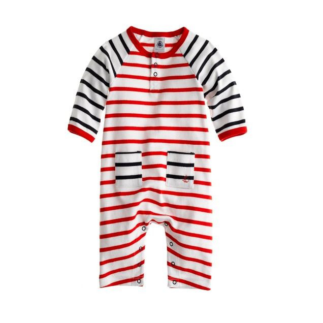 Baby Petit Bateau® coverall in stripe