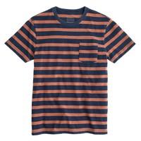 Indigo pocket T-shirt in onyx stripe
