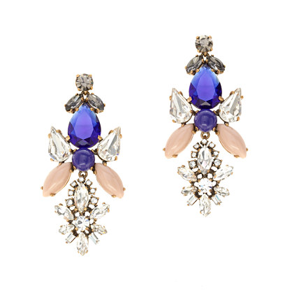 Crystal symmetry earrings