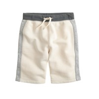 Boys' Cooper sweatshort in side stripe