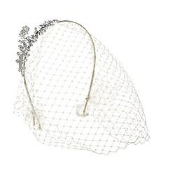 Jennifer Behr crystal birdcage veil