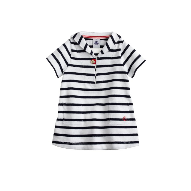 Baby Petit Bateau® Mariniere dress with tunic neck