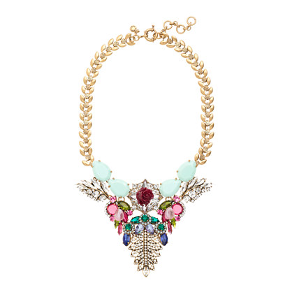 Mint stone statement necklace