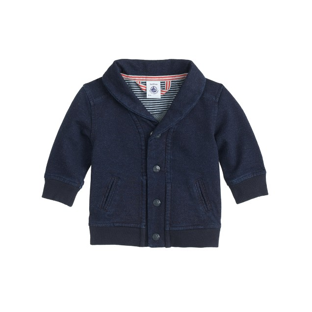 Baby Petit Bateau® cardigan in indigo