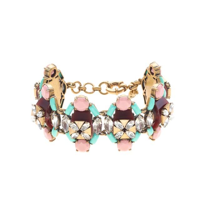 Stacked stones bracelet