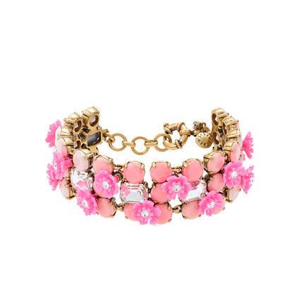 Bohemian rose bracelet