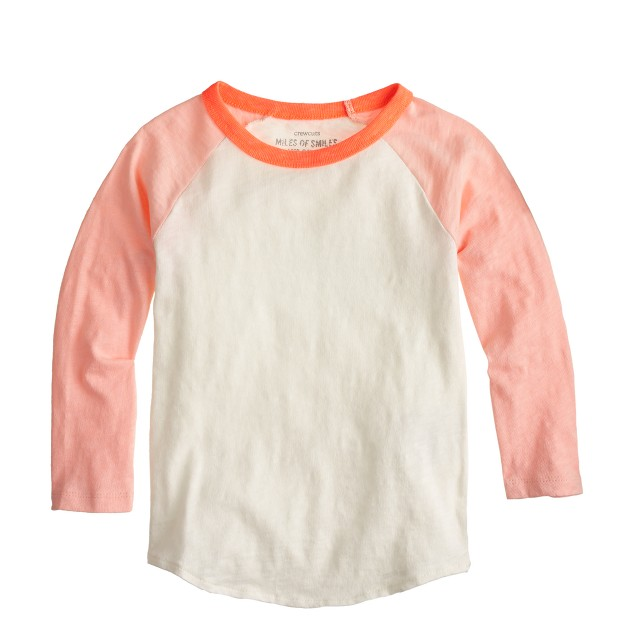 Girls' colorblock baseball T-shirt