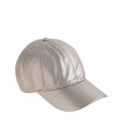 Metallic canvas baseball cap