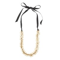 Pearls and ribbons necklace
