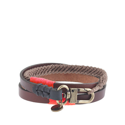 Caputo & Co. triple-wrap waxed-cord bracelet