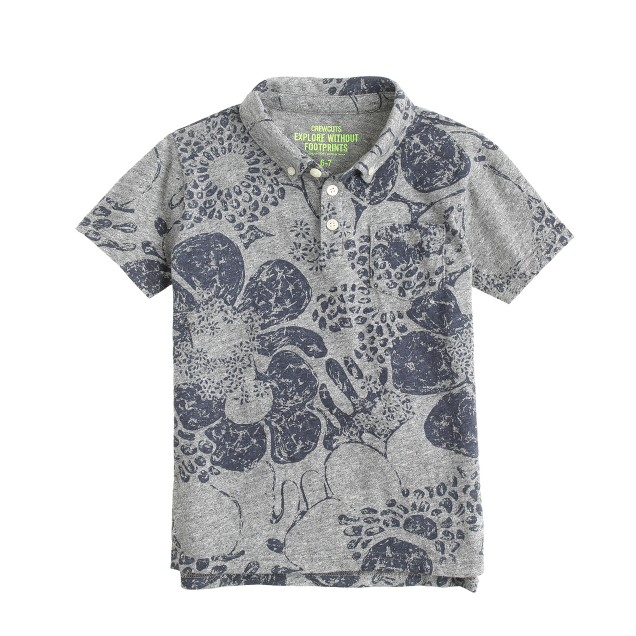 Boys' polo in tropical floral