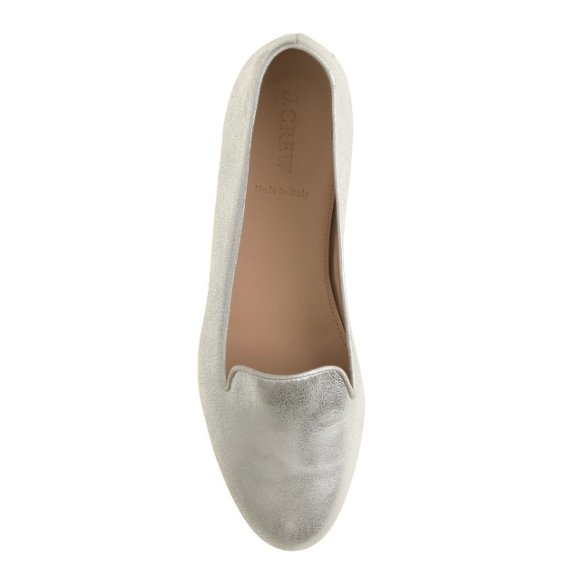 Metallic suede Cleo loafers