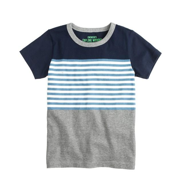 Boys' colorblock stripe tee