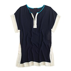 Colorblock beach tunic