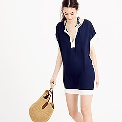 Colorblock beach tunic
