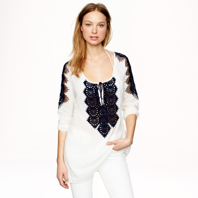 Embroidered rope tunic