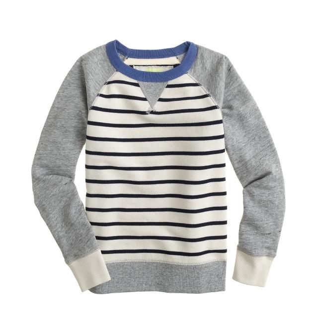 Boys' stripe sweatshirt