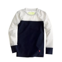 Girls' rash guard in colorblock