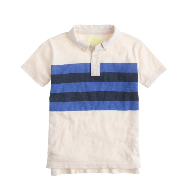 Boys' polo in multistripe