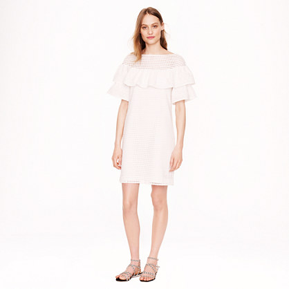 Collection mixed eyelet dress