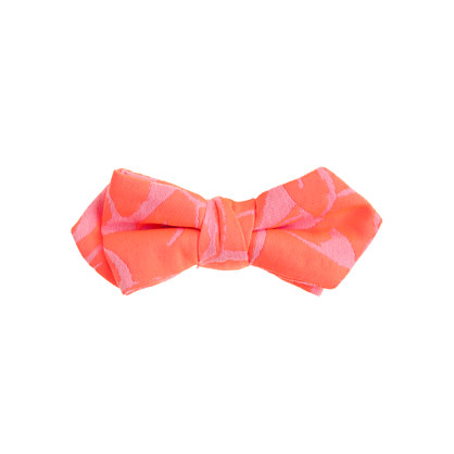 Boys' cotton bow tie in neon jacquard