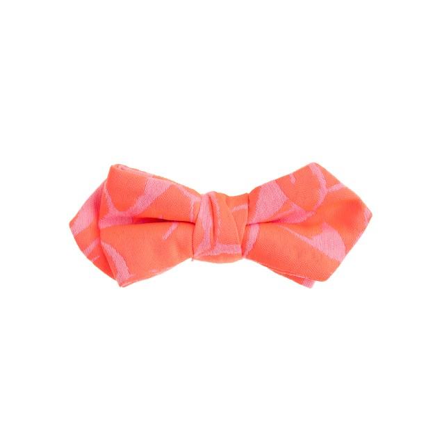 Boys' cotton bow tie in neon jacquard