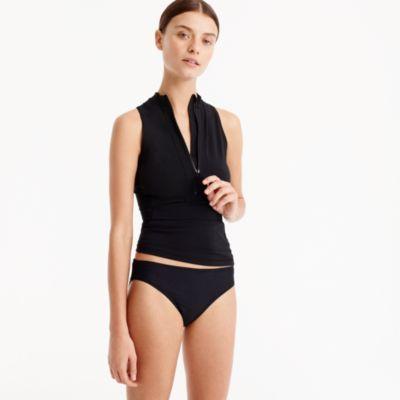 Sleeveless zip rash guard