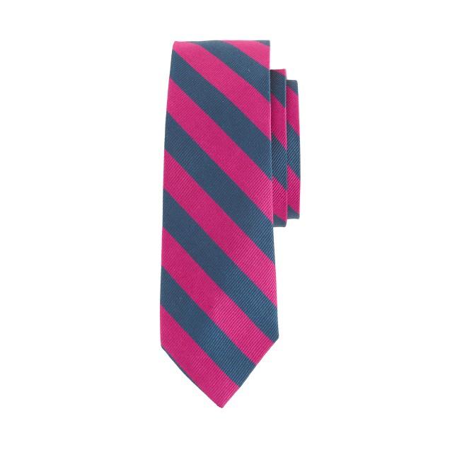 Boys' silk repp tie