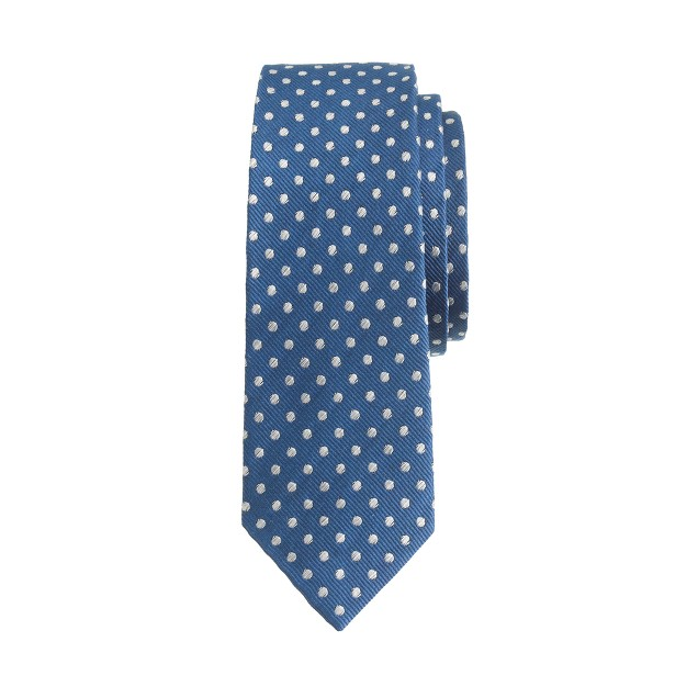 Boys' silk tie in twilight dot